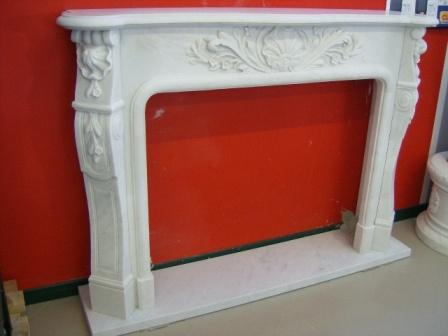 Cornice di camino in marmo bianco cm 150 mod 7 for Cornice camino gesso
