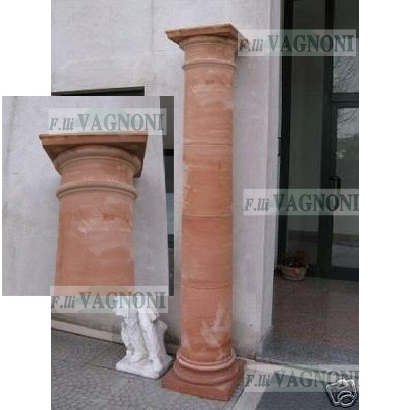 COLONNA IN TERRACOTTA TOSCANA CM. 235