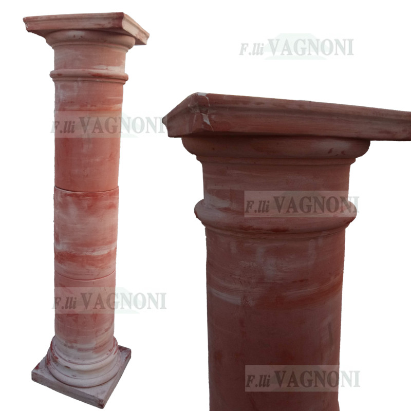 OUTLET COLONNA PERGOLA IN TERRACOTTA TOSCANA CM. 185