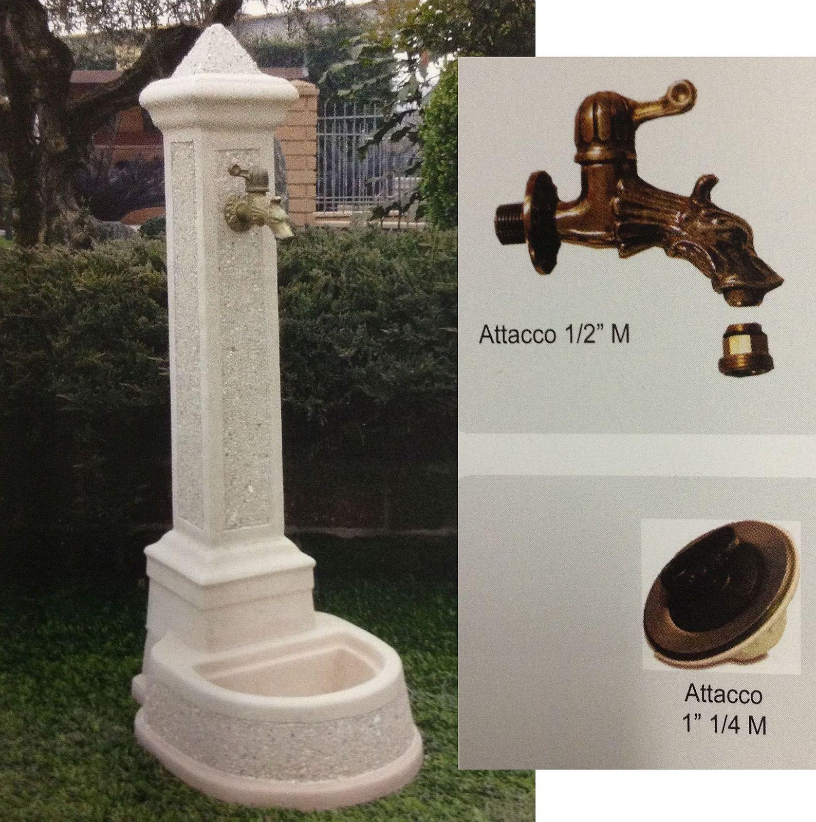 Fontana a colonna parigi rubinetto piletta fontparigi for Colonne da giardino