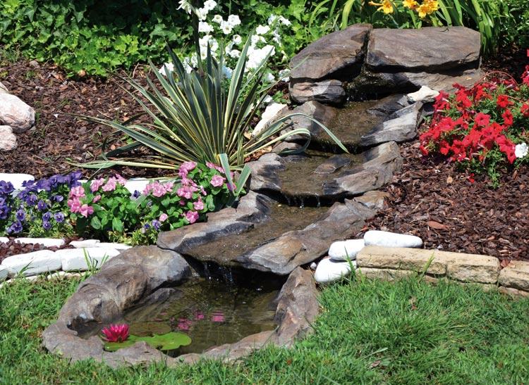 Cascata rio verde con pompa cascata105 for Cascate in giardino
