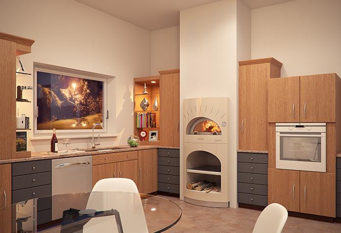 Forno a legna da interno gusto alfa pizza alfa gusto - Forno a legna in casa ...