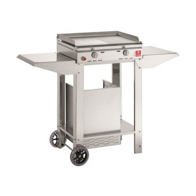 "BARBECUE A GAS PLANET SERIE ""CHEF"" 55 IN ACCIAIO INOX + CAPB"
