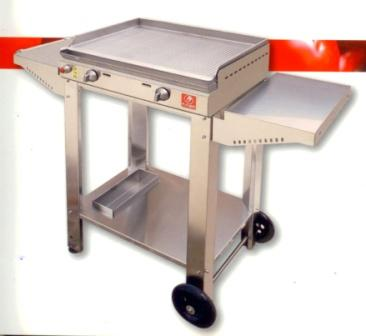 "BARBECUE A GAS PLANET SERIE ""CHEF"" 55 IN ACCIAIO INOX + CA"