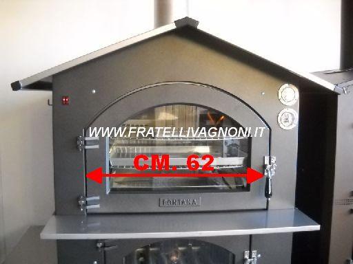 FORNO A LEGNA FONTANA MAXI GUSTO ACCIAIO 80X65 [maxigusto80x65 ...