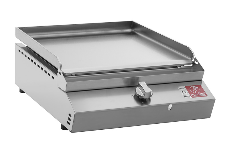 "BARBECUE PIASTRA A GAS PLANET SERIE ""MOMA"" 55T IN ACCIAIO INOX"
