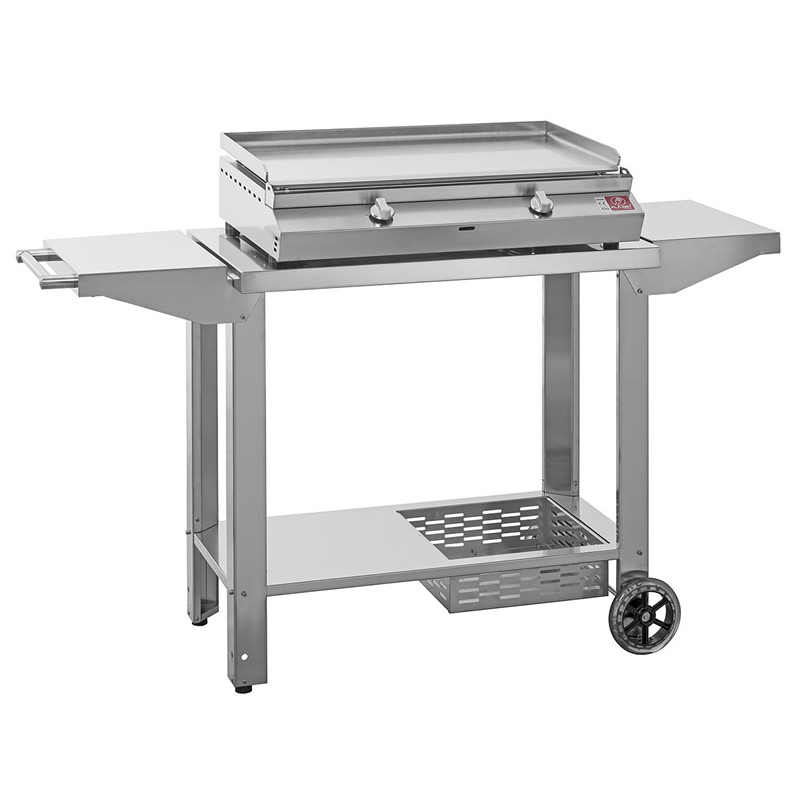 "BARBECUE A GAS PLANET SERIE ""MOMA"" 80T IN ACCIAIO INOX + CA"