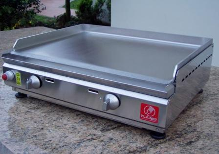 "BARBECUE PIASTRA A GAS PLANET SERIE ""CHEF"" 55 IN ACCIAIO INOX"
