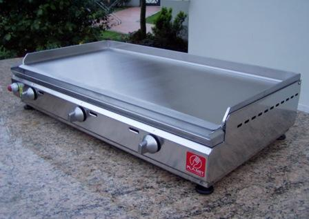 "BARBECUE PIASTRA A GAS PLANET SERIE ""CHEF"" 80 IN ACCIAIO INOX"