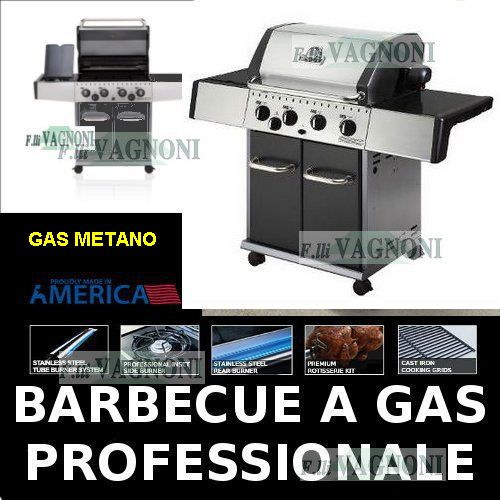 BARBECUE A GAS -METANO- HUNTINGTON REBEL 4 + FORNELLO