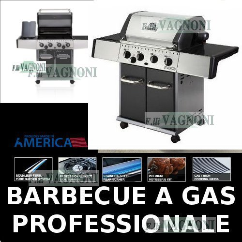 BARBECUE A GAS HUNTINGTON REBEL 4 + FORNELLO