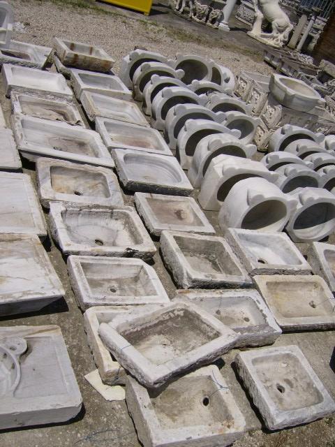 Lavandino antico in marmo bianco squadrato varie misure lavmarmq 280 00 fratelli vagnoni - Lavandino esterno pietra ...