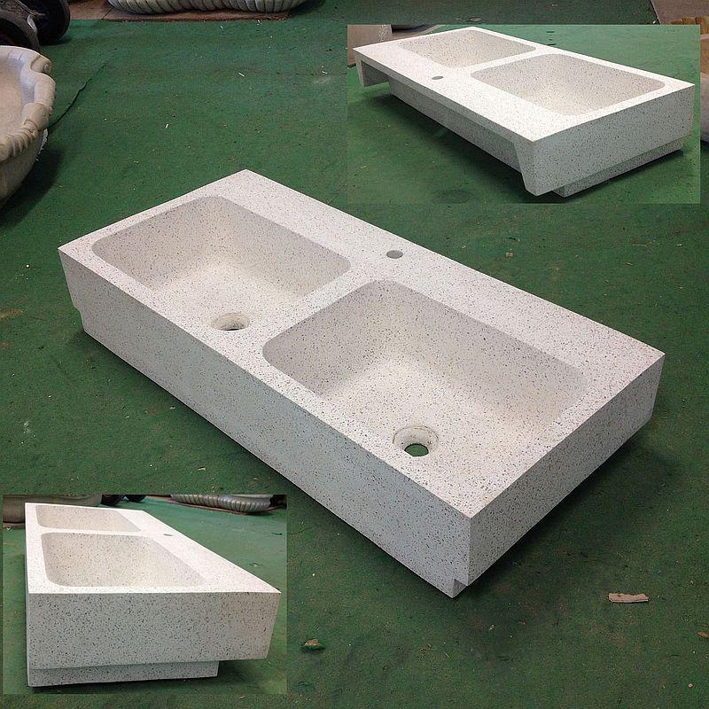 Lavandino in graniglia di marmo e cemento cm 110x50 inc - Lavandino esterno ...