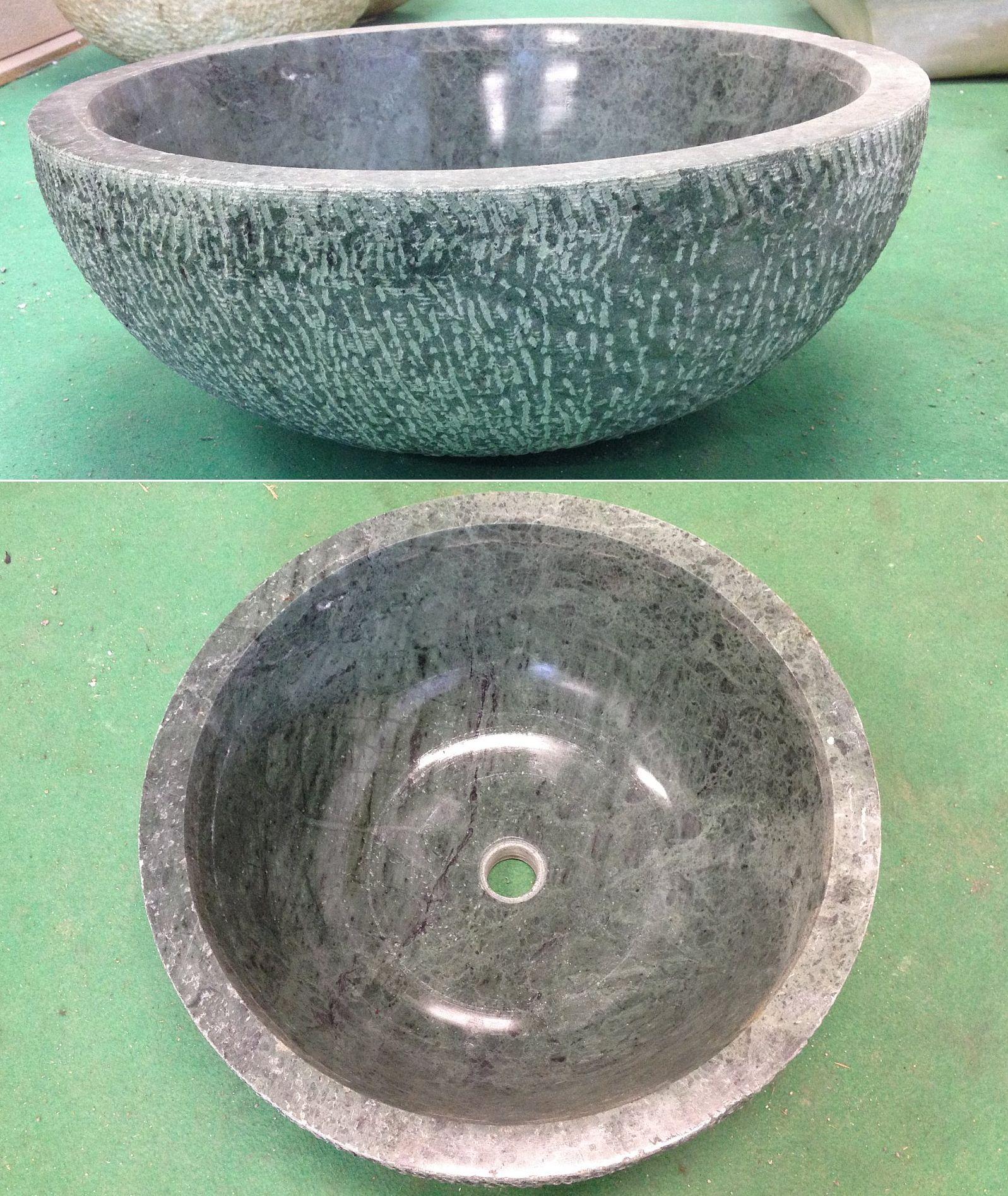Lavandino in marmo verde cm 45x18 arredo bagno laverde45 - Arredo bagno verde ...