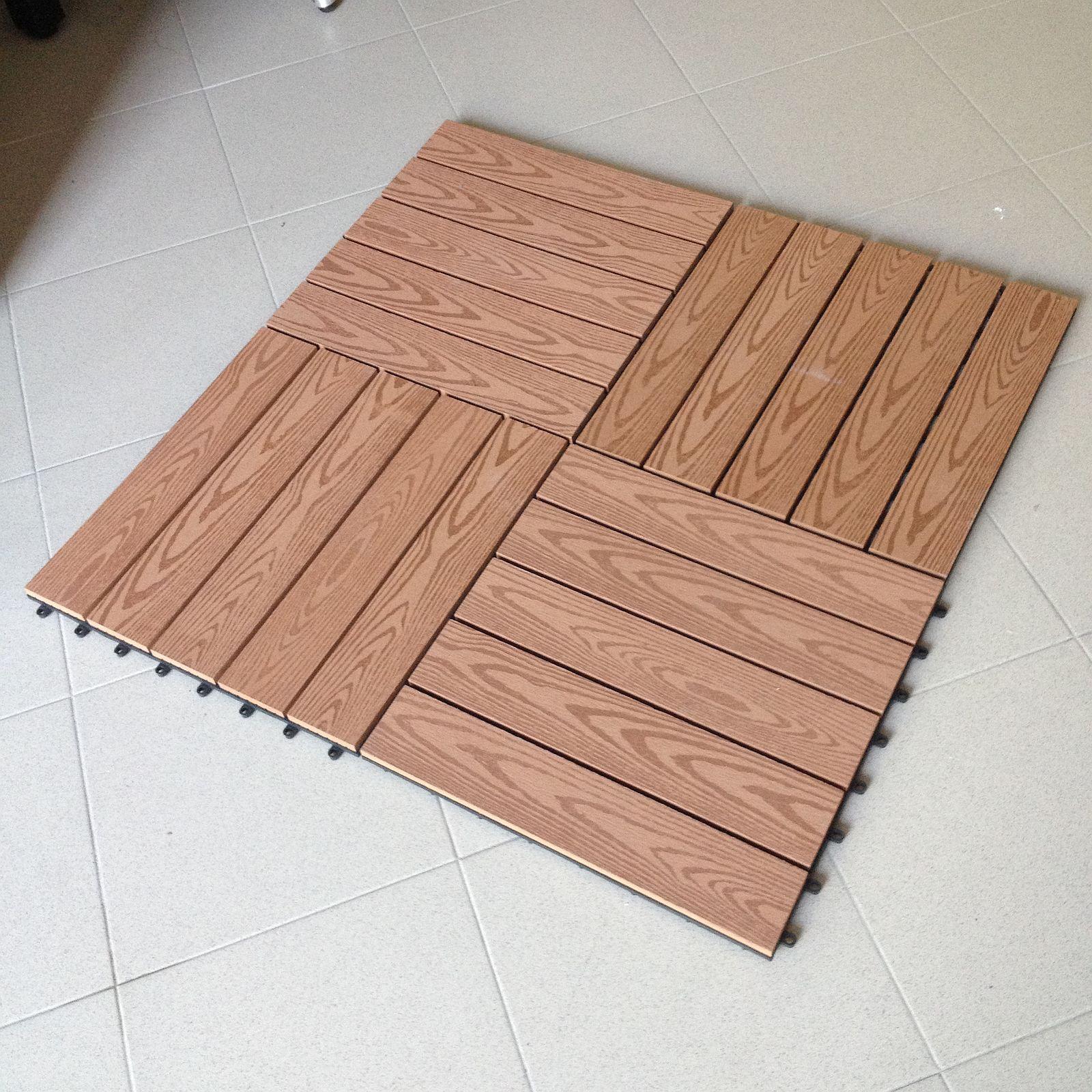 N 6 mattonelle per pavimento in wpc legno for Mattonelle per esterno