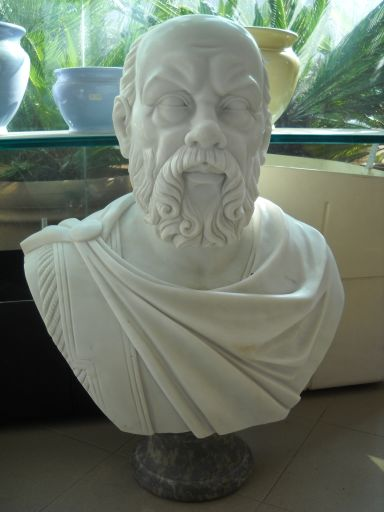 BUSTO IN MARMO SOCRATE Cm. 70 MOD. 048
