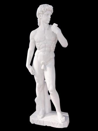 STATUA DAVID DI MICHELANGELO IN MARMO Cm. 180
