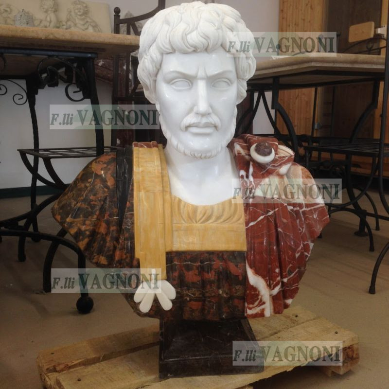 BUSTO IN MARMO IMPERATORE Cm. 75