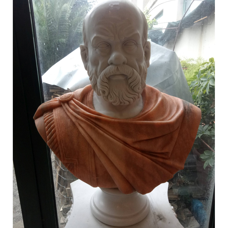 BUSTO IN MARMO SOCRATE Cm. 75 MOD. 048