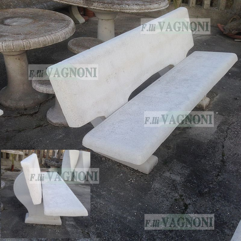 Panchine Da Giardino Colorate.Panchina Da Giardino In Cemento E Pietra Cm 170 Pc170 200 00