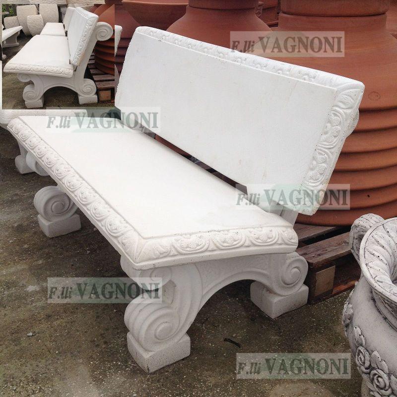 Tavoli Da Giardino In Cemento.Panchina Da Giardino In Cemento E Pietra Cm 130 Pc130 180 00