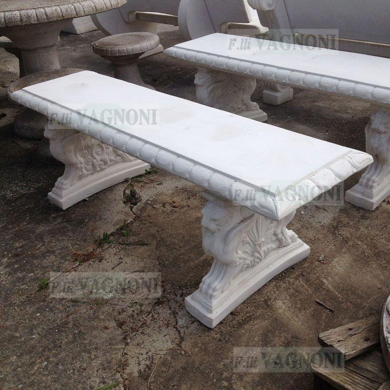 Panchine Da Esterno In Pietra.Panchina Da Giardino In Cemento E Pietra Cm 140 Pc140 160 00