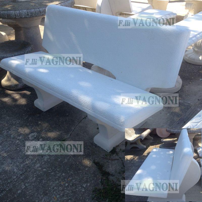 Panchina Da Giardino In Cemento E Pietra Cm 135 Pc135 180 00