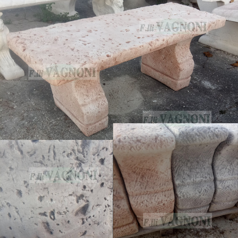 Panchine Da Esterno In Pietra.Panchina Da Giardino In Cemento E Pietra Cm 118 Pc118 152 00