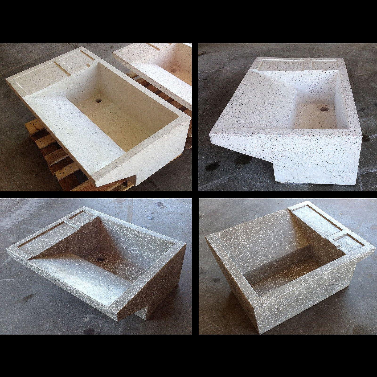 Vasche In Pietra Per Fontane vasca lavapanni cm. 60 in cemento e graniglia di marmo
