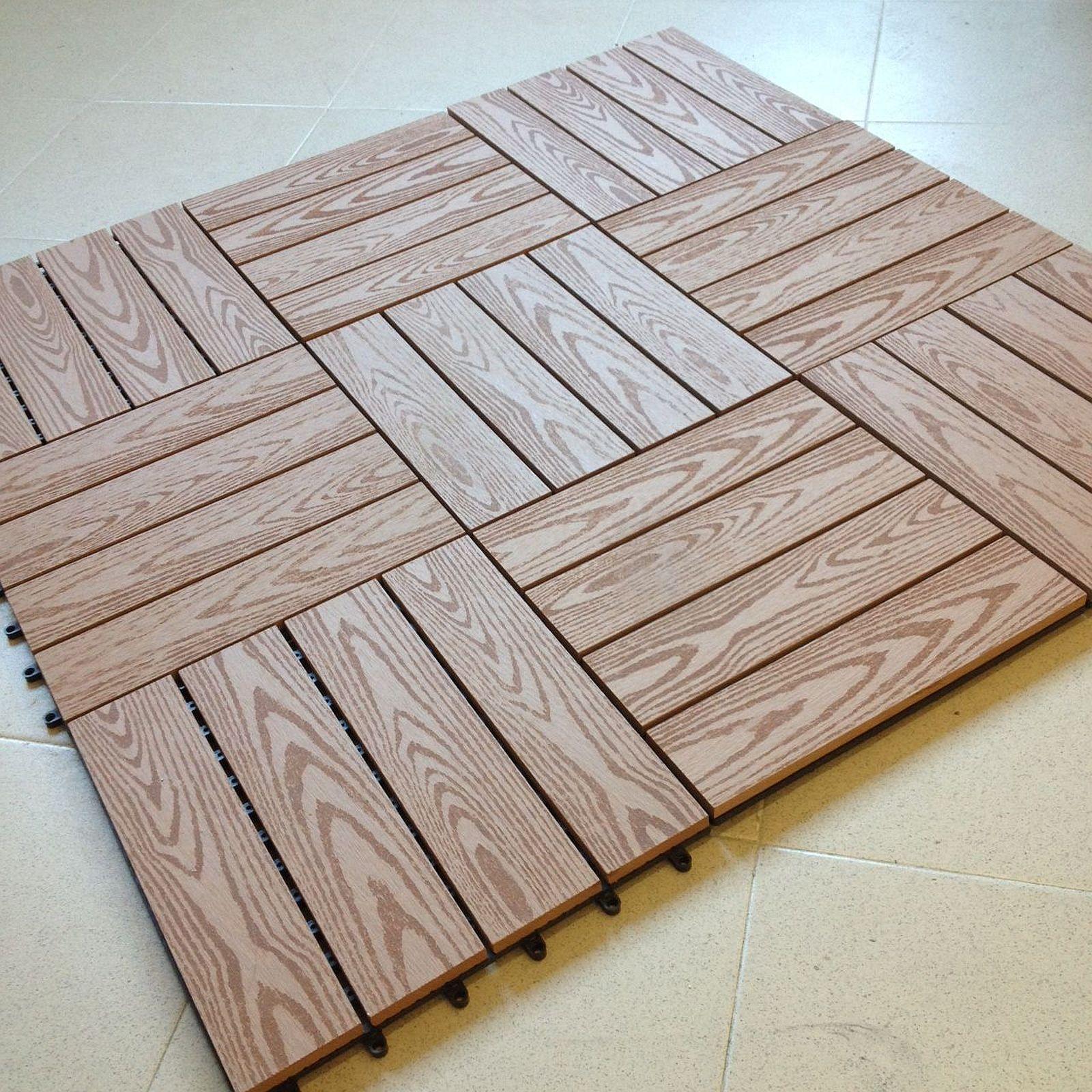 Pavimenti In Legno Per Terrazzi n° 11 mattonelle per pavimento in wpc cm.30x30 legno