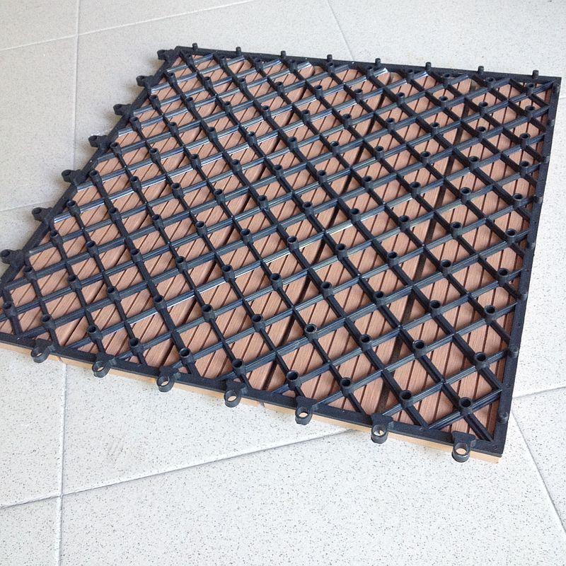 MATTONELLE MATTONELLA cm 40x40 IN WPC PAVIMENTO LEGNO COMPOSITO TEAK PLASTICA