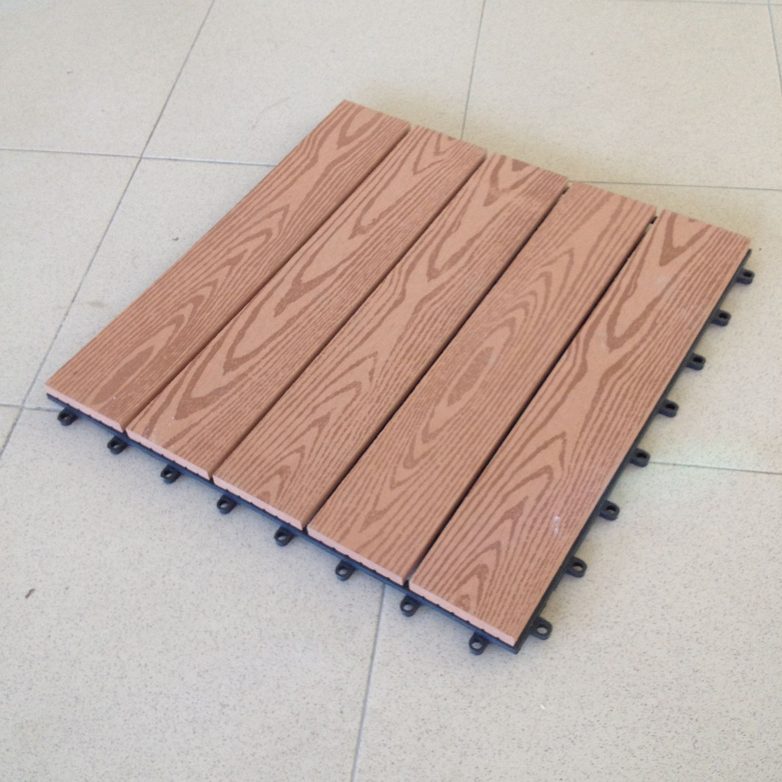 Pavimenti In Pvc Ad Incastro campione- di mattonella in wpc cm. 40x40 legno composito